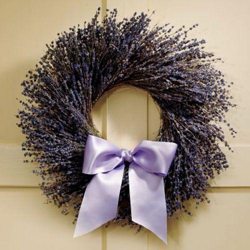 Ideen für Hausdekoration mit Lavendel - Lavendelkranz