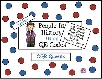 People in History using QR Codes 3rd-5th $