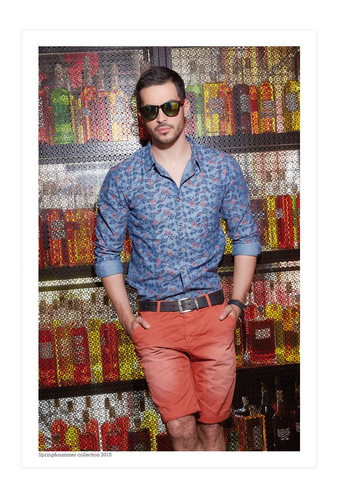 Cool outfit for summer days  #formen #clothing #fashion #glostory #shirt #tropical #red #bermuda #hotfashion #cool