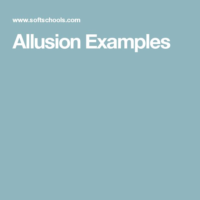 Allusion Examples