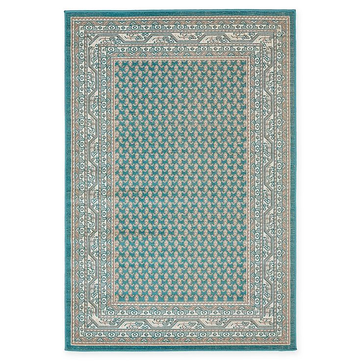 Unique Loom Tribeca 4 X 6 Power Loomed Area Rug In Teal Teal Area Rug Area Rugs Rugs