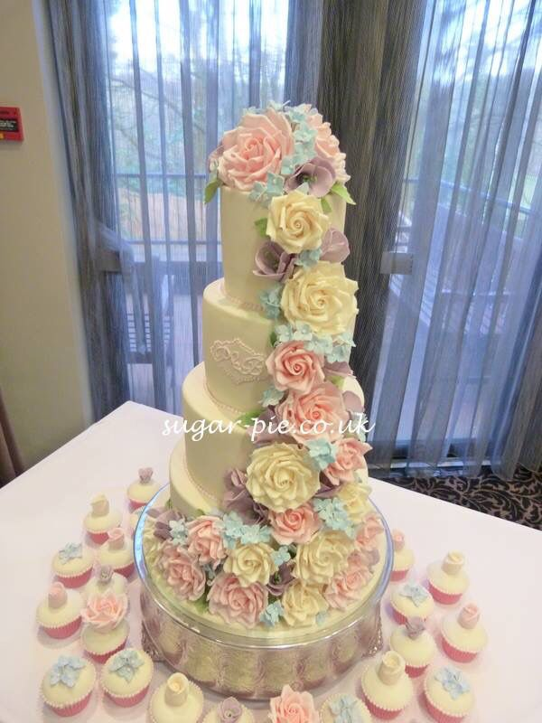 Pastel floral cascade