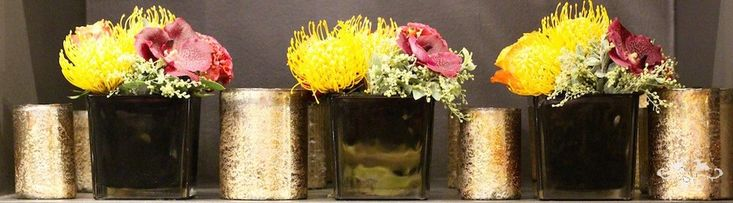 Fresh floral designs are also available throughout Christmas at the boutique