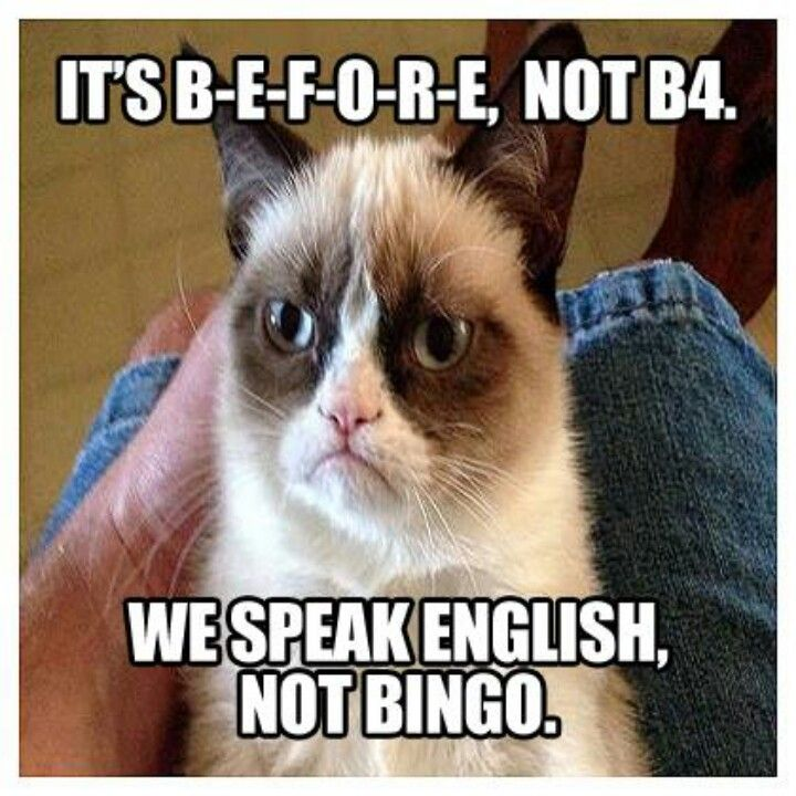 Haha, nice one grumpy cat :-)