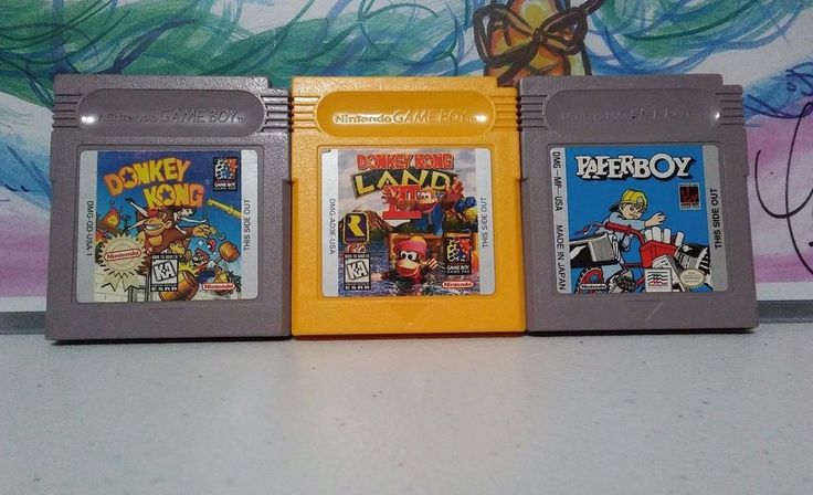 Donkey Kong + Donkey Kong Land 3 + Paperboy Nintendo - Gameboy Color Lot  #Nintendo
