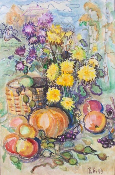 Colourful Flowers Painting from $41.99 | www.wallartprints.com.au #StillLifeArt #WallArtPrints