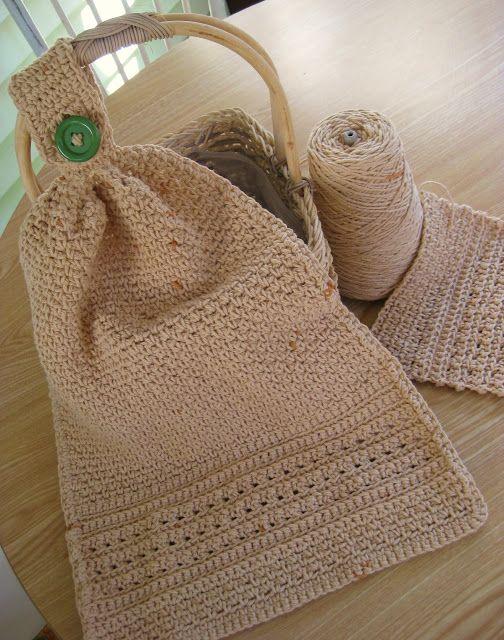 Big Girl Kitchen Towel: free #crochet pattern