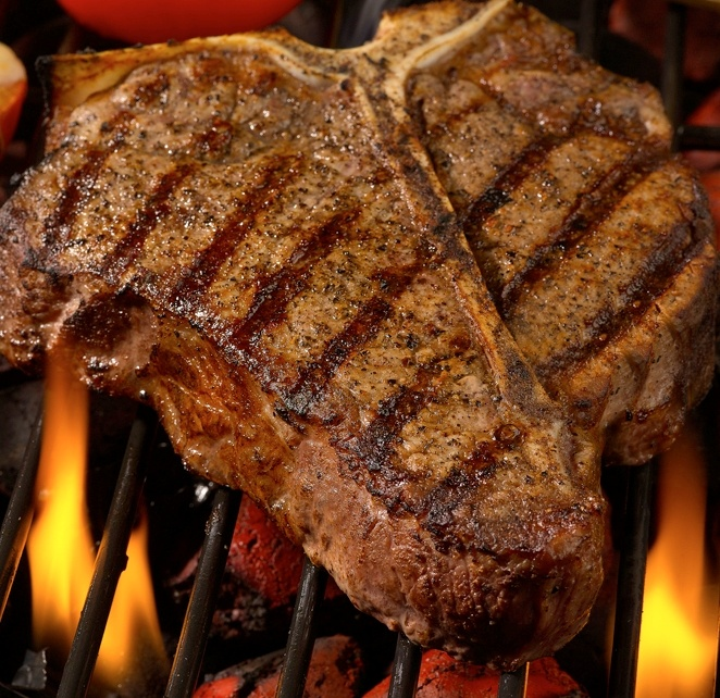T-Bone Steak on the Grill........Love that Protein