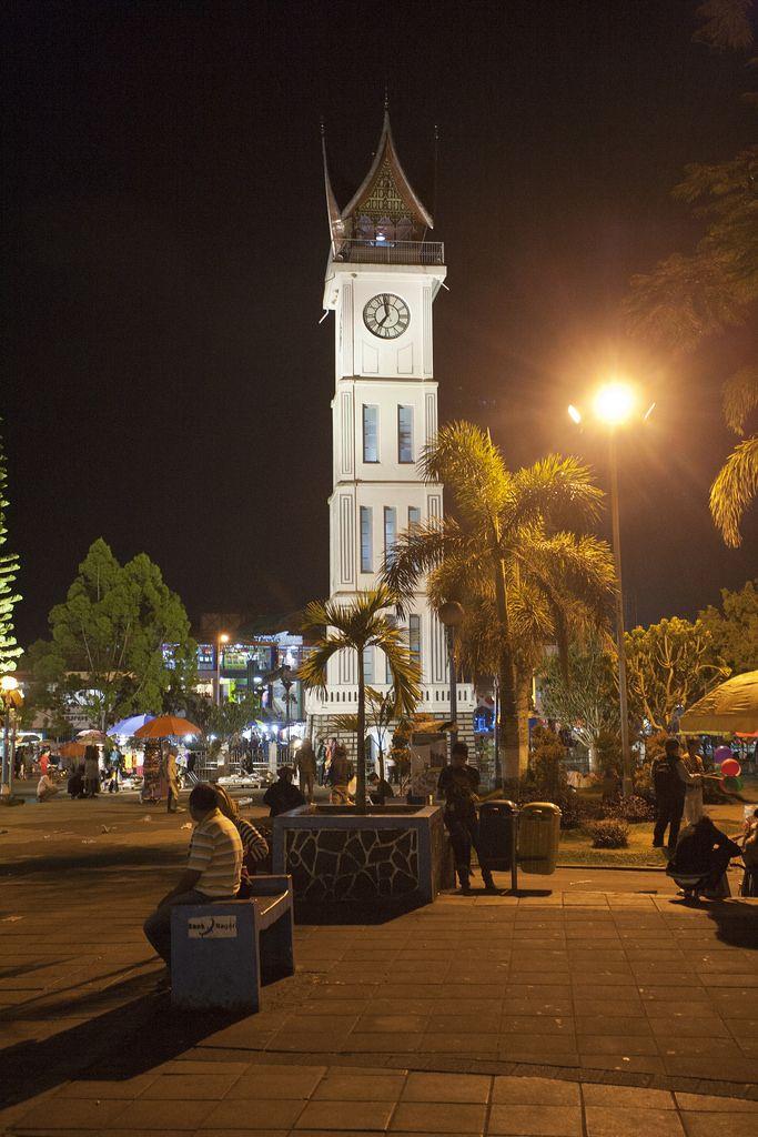 Clock tower at night | Bukittinggi, West Sumatra, Indonesia
