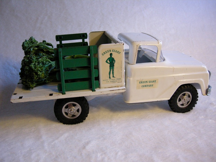 Vintage Toy Trucks Part - 19: Free Shipping Today: Vintage TONKA GREEN GIANT Stake Truck Early 1960s,  Black Friday Etsy