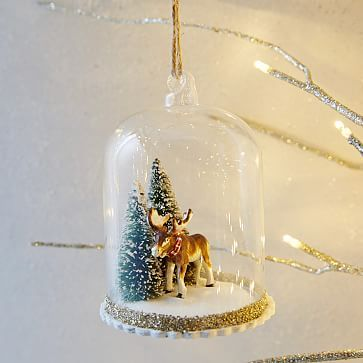 Rachel Kozlowski Cloche Ornament - Moose #westelm