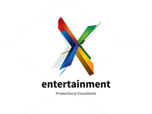 x letter alphabet logo