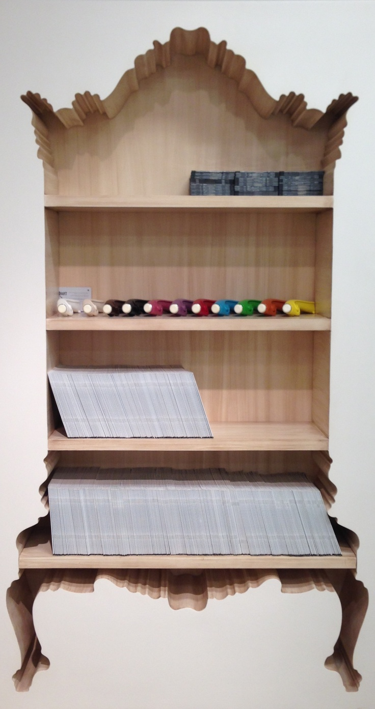 """Inside Out or Outside In?  This """"Silhouette"""" bookcase by Polart is a statement maker, no matter which way you """"slice"""" it.  Now this is innovation!  Polart (Suites at Market Square G-2027) (www.polart.com) #hpmkt #stylespotters"""