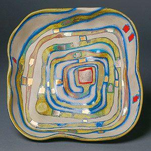 Friedensreich Hundertwasser, Spiralental, 1983  #ceramics #pottery