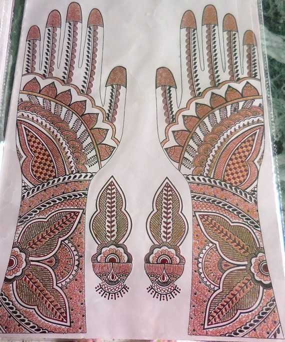 Temporary tattoos Henna hand tattoos stickers by BindiCollection