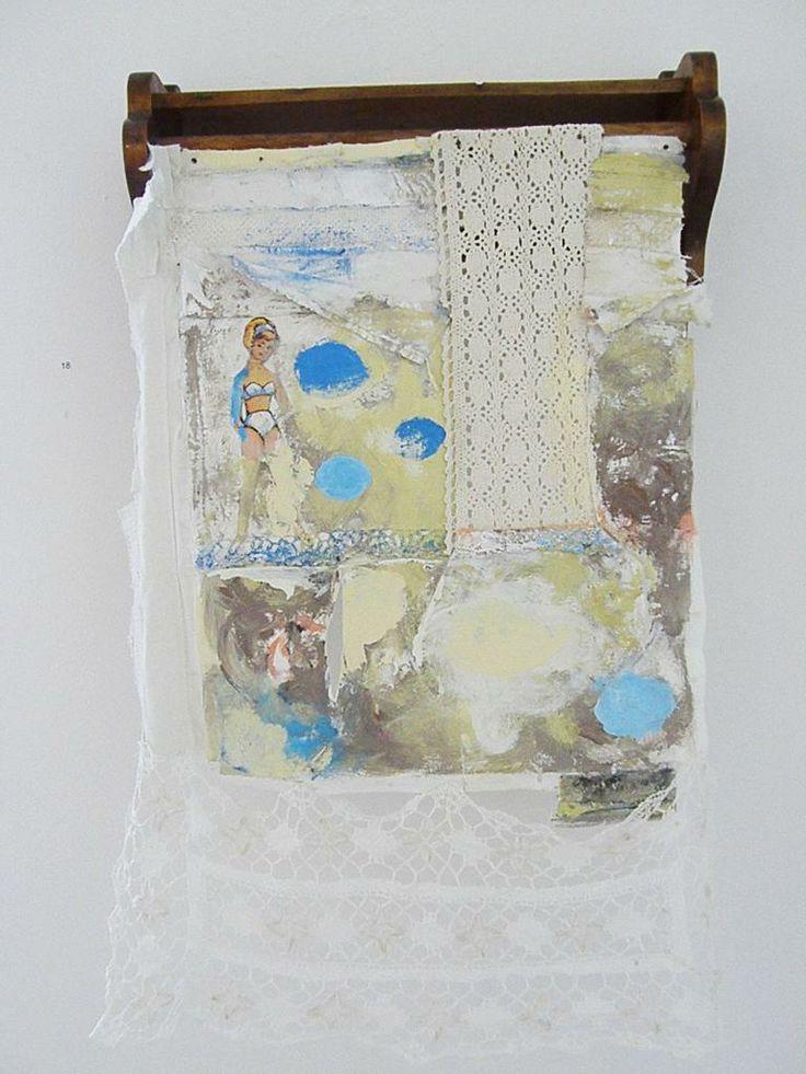 Moderni Käspaikka - Leikin loppu (The cover of towels) oil painting  ready made 2011 Annukka Mikkola