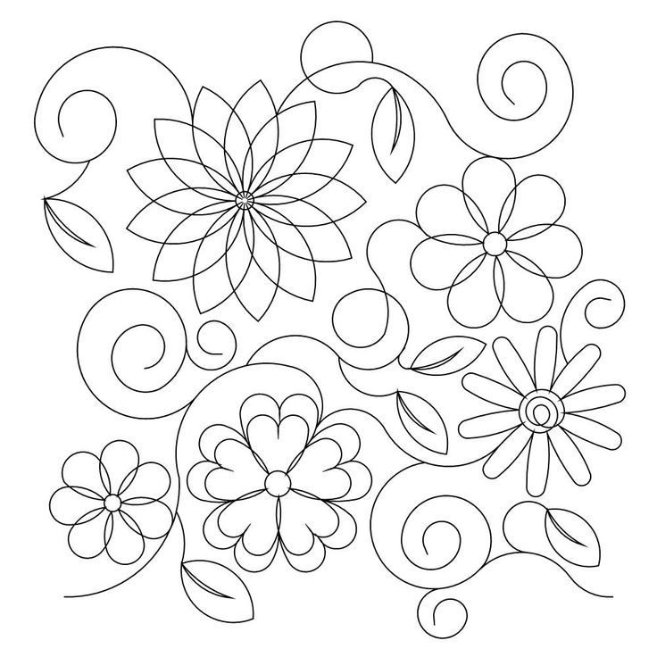 Wasatch Digital Quilting Designs : Shop Category: Flowers / leaves Product: Spring flowers E2E 2014 quilting Pinterest ...