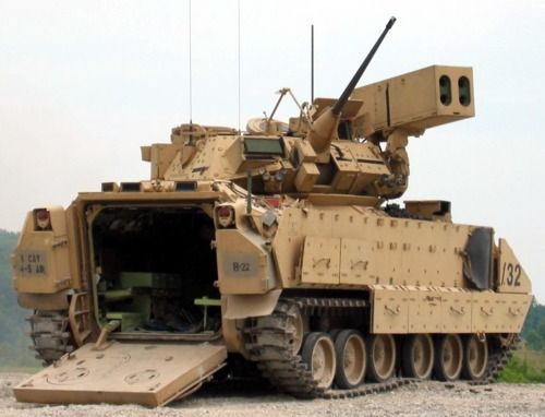 M1A3 Bradley tank/troop transport. We should have put the Javelin on this rather than the TOW II.