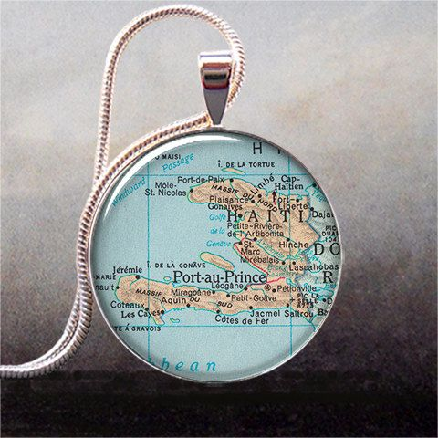 Haiti+map+pendant+Haiti+map+necklace+resin+by+thependantemporium,+$9.25