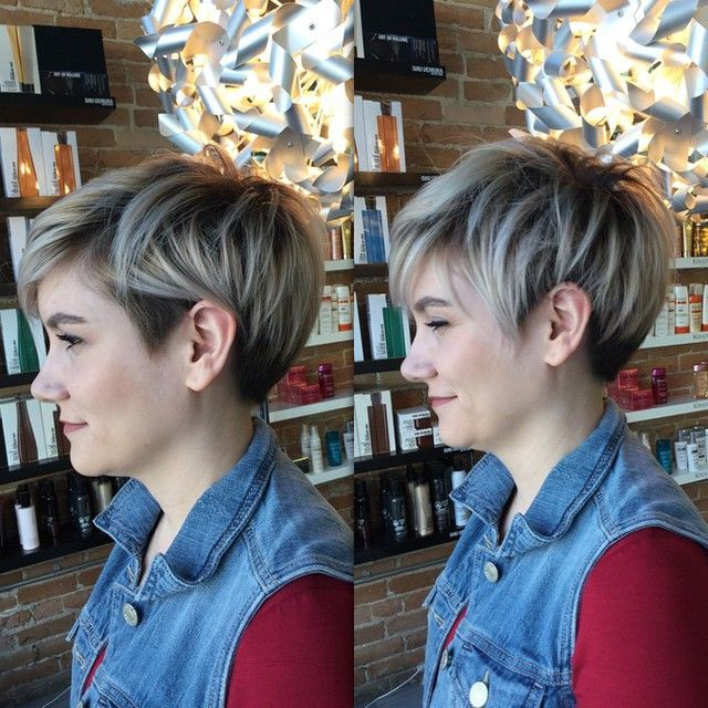 Lovin' this versatile rooty blonde undercut pixie! Colour and cut by Sara. #hairbycyan #ldnont #saloncyan #pixie