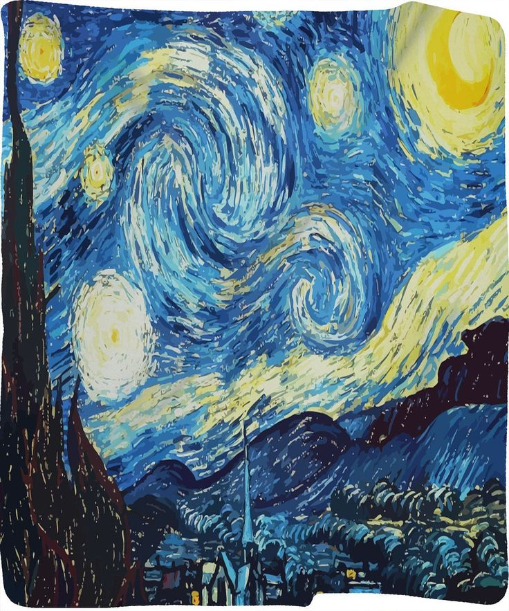 Starry Night Fleece Blanket #lockscreeniphone Starry Night reproduction design P...