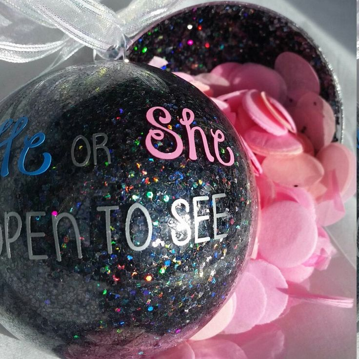 Pop apart gender reveal ornament! 3 days left to order and arrive by Christmas!!