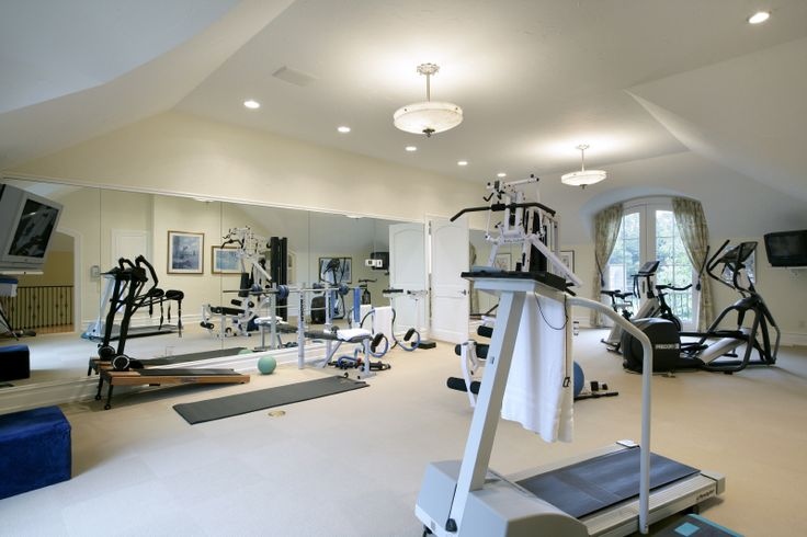 145 best images about home gym on pinterest for Luxury home gym