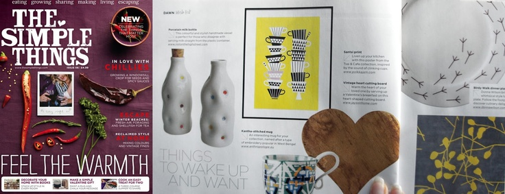 "Our Santsi poster was featured in the ""Things to wake up and want"" section of the latest issue of The Simple Things magazine."