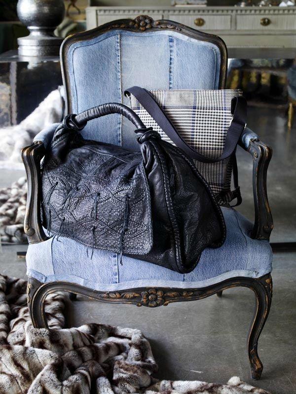 fauteuil louis XV en jean