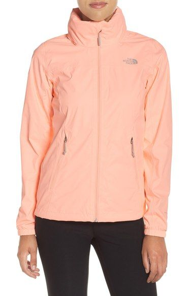 The North Face 'Resolve Plus' Waterproof Jacket available at #Nordstrom size large-orange/pink or grey