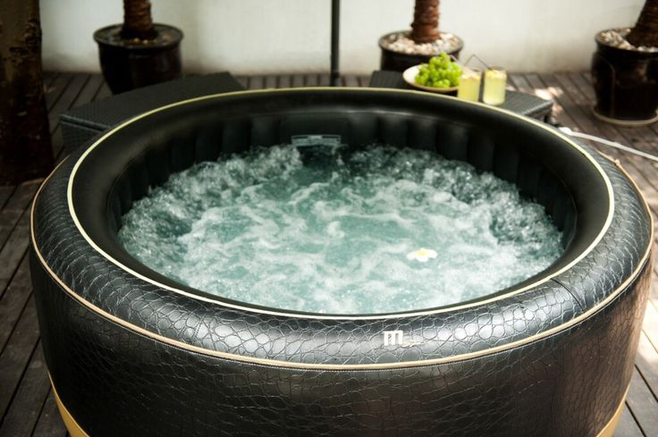 Luxury inflatable hot tub