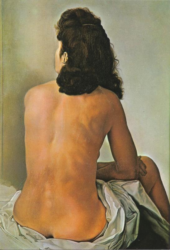 Salvador Dali: Gala d'esquena mirant un mirall invisible (1960) - Teatre-Museu Dali