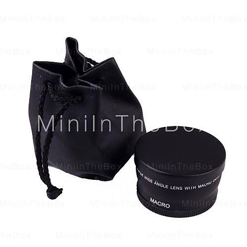 Macro 58mm 0.45x Lente Gran Angular para Canon EOS 350D / 400D / 450D / 500D / 1000D / 550D / 600D / 1100D con la caja al por menor #01435949
