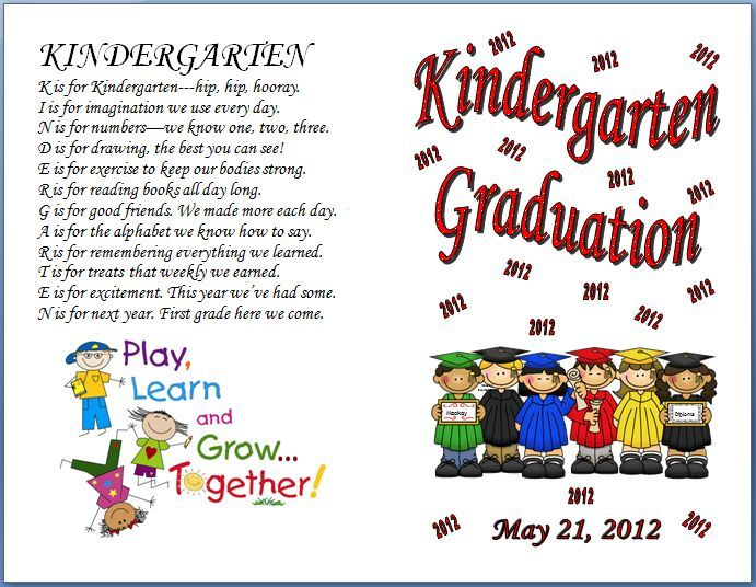 Designs Amazing Free Preschool Graduation Program Templates With