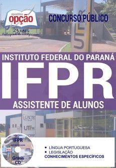 Adquira já sua Apostila preparatória do Concurso do Instituto Federal do Paraná - IFPR 2017, para os Cargos Assistente de Administração, Assistente de Alunos, Auxiliar de Administração e Auxiliar de Biblioteca. Ao todo são 29 vagas com remuneração inicial de R$ 1.739,04 a R$ 2.175,17, e carga horária de 40h semanais. O candidato deve possuir nível fundamental completo ou médio. As inscrições serão realizadas no site da Cetro Concursos, de 12 de dezembro a 05 de janeiro. A taxa de inscrição…
