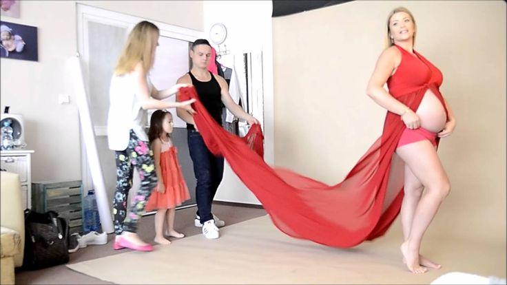 Sesja z brzuszkiem w studio - fotografia ciążowa - Iwona Pajewska Fotokr...