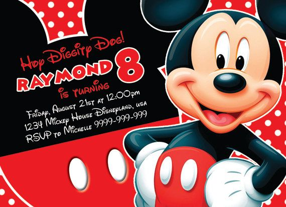 Best Mickey Mouse Birthday Invitations Images On