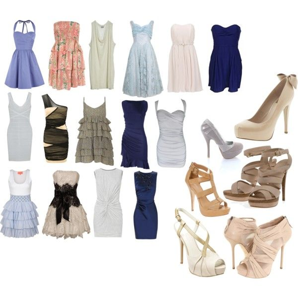 Dresses And Shoes, created by luisarpo on Polyvore