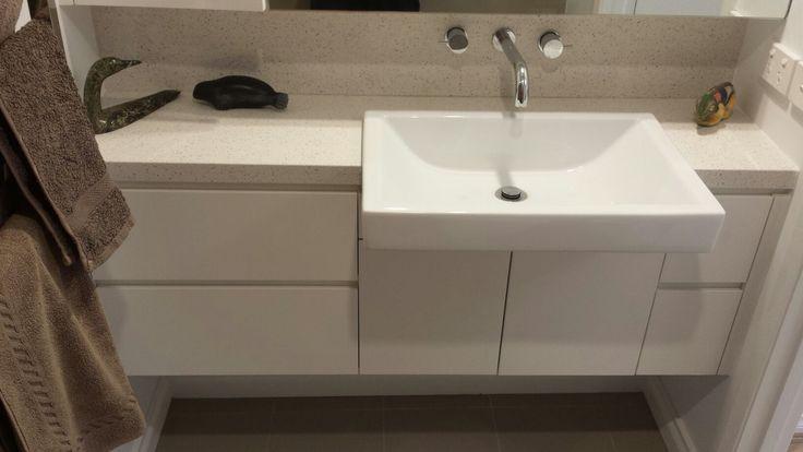 Custom made vanity unit.