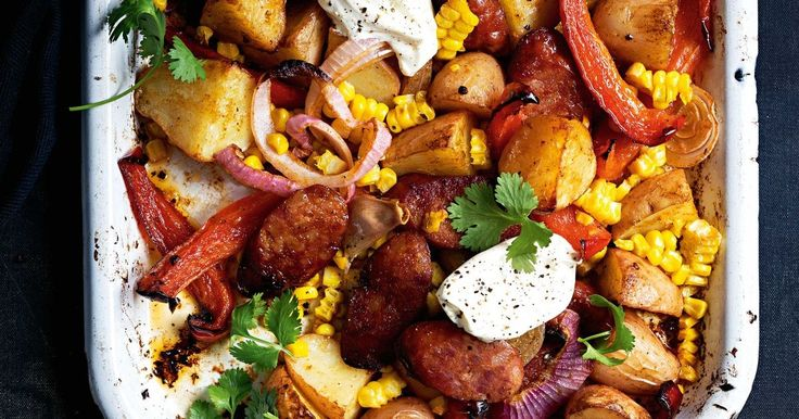 What's better than a spicy potato and chorizo bake for dinner? Serving it up for brunch the next day!