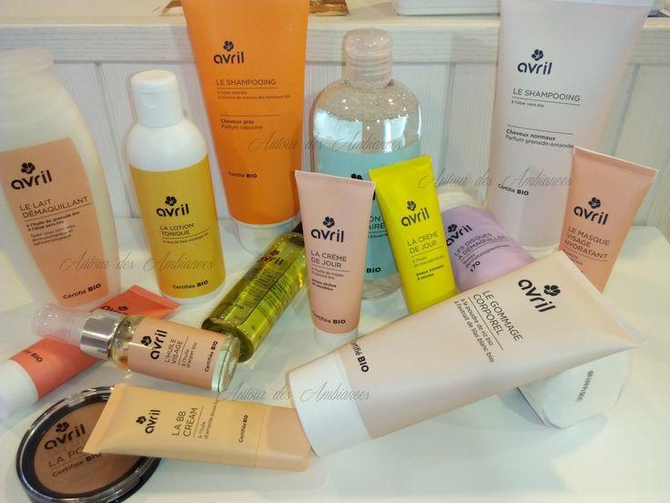 Nouveaux produits bio AVRIL. Pour les soins du visage et le démaquillage , Avril chouchoute votre épiderme . démaquillants-soins, crèmes généreuse, huile cocooning : votre peau vous remercie !