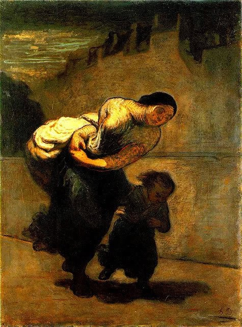Honoré Daumier (1808 - 1879) - Load, 1853. Oil on cardboard.