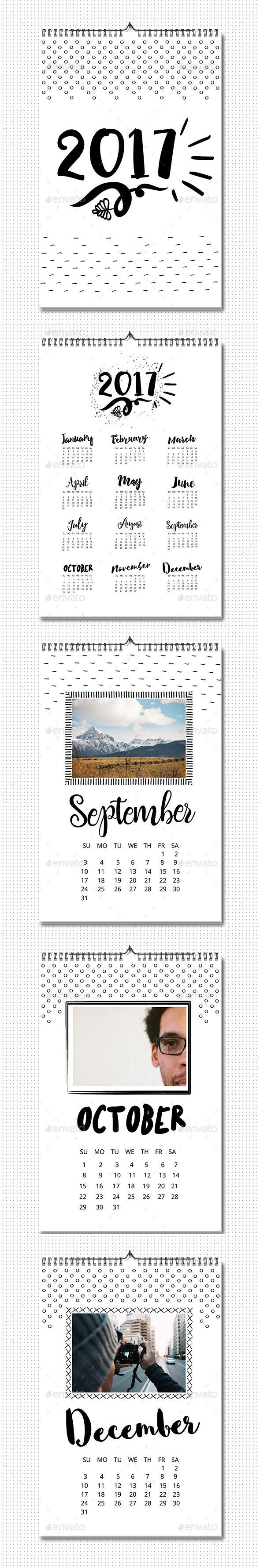 Photo Calendar 2017 Template Vector EPS, AI Illustrator