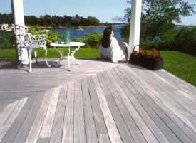 LOW MAINTENANCE DECKING OPTION:  If you would like your new hardwood deck to weather naturally to a delicate silvery-gray patina, there is very little that needs to be done after decking installation; an initial coat of PenoFin oil sealer (or similar product) is highly recommended to protect your deck from harmful UV rays while it acclimates. After this, you may simply allow the weather and environmental conditions to naturally season your deck boards.