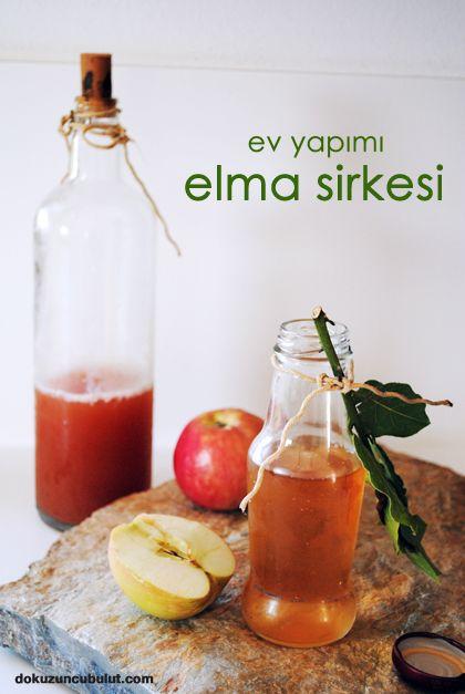 ✿ ❤ ♨ Evde organik elma sirkesi yapmak istemez misiniz? Ev yapımı elma sirkesi (1 adet cam kavanoz Kavanozu dolduracak kadar elma(organik) varsa birkaç ayva (elmalar ekşi -tatlı karışık olursa daha lezzetli olur) 6 adet nohut 1 tatlı kaşığı toz şeker (şeker istemeyenler için yerine gerçek bal konabilir Fermantasyonu sağlamak için gerekli) 1 çay kaşığı tuz 1/2 çay bardağı sirke (varsa organik ya da ev yapımı /aslında sirke konmadan da oluyor) yeteri kadar kaynatılmış soğutulmuş içme suyu)