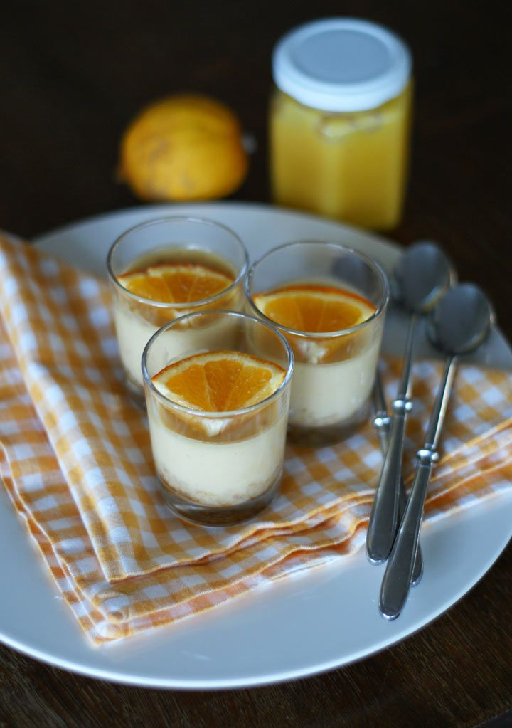 Orange Cream Pies in a Glass (Orangencreme-Dessert)