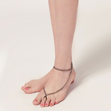 Fashion Simple Alloy With The Ring Chain Anklet - DualShine