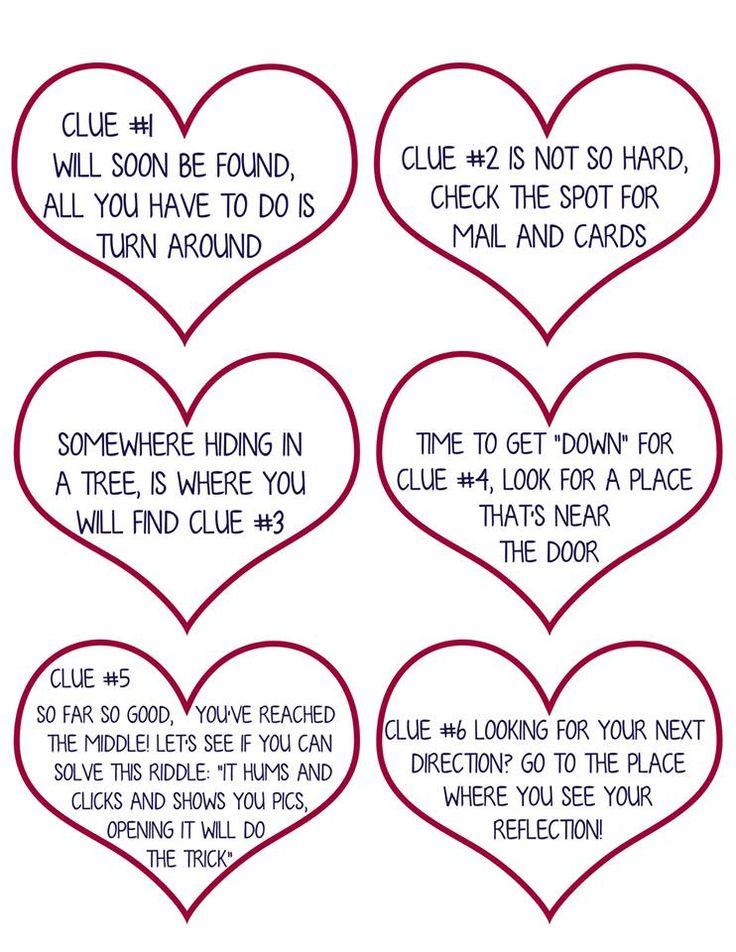 Valentine Scavenger Hunt for Kids (Free Printable Clues!)