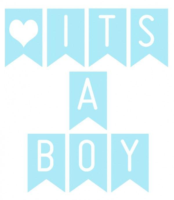 FREE Printable banner 'It's a boy'