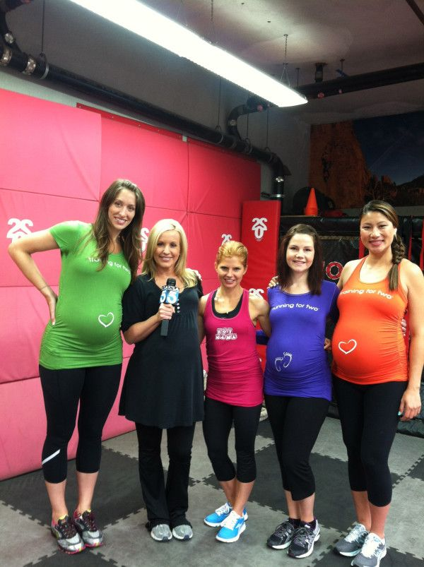 "Tweet from Sara Haley, fitness celebrity, featured here on KTLA Morning News!  ""Special thanks @ForTwoFitness for the shirts - the most comfy and fun maternity shirts I've seen or worn!  Even 14 months out I love my Hot Mama shirt!"""